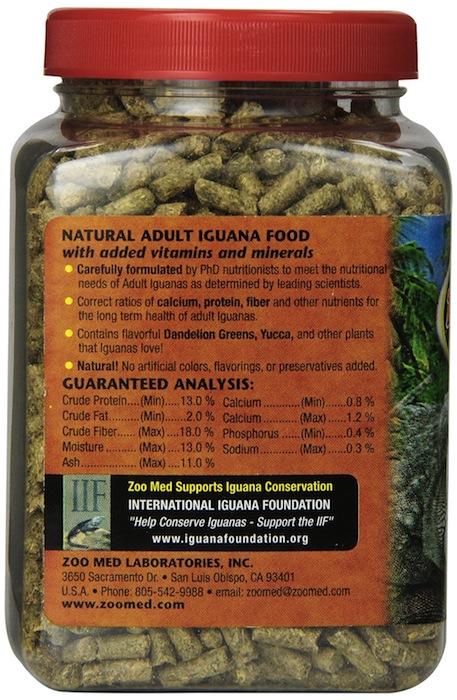 Granulés 100% naturels pour iguanes adultes - dos - Zoomed
