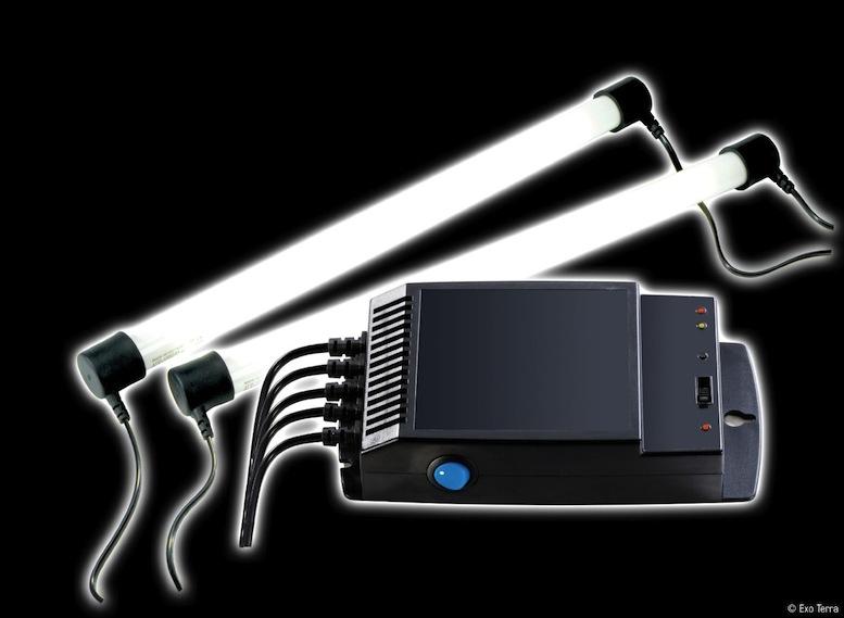 Recrée le cycle jour/nuit pour votre iguane avec un simulateur d'aube et de crépuscule