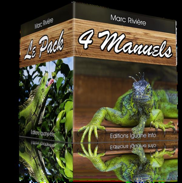 Pack 4 Manuels pour vous occuper de votre iguane comme un pro !