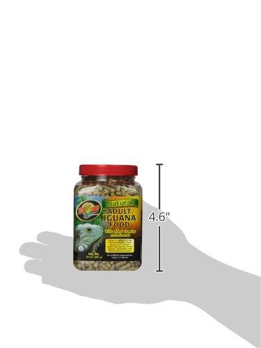Taille de la boîte de granulés naturels pour iguanes adultes de Zoomed