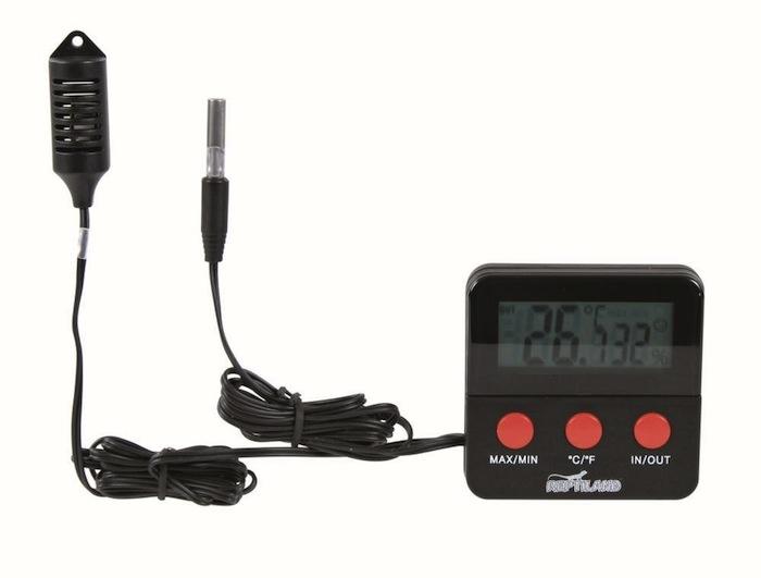 Thermo-hygromètre numérique à affichage digital - Reptiland
